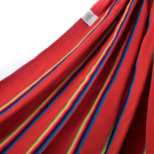 Two Person Hammock - Red Rainbow Fabric Image