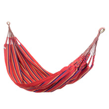 Load image into Gallery viewer, Two Person Hammock - Red Rainbow Main Image