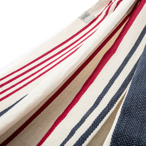 Cotton Two Person Hammock - Red White And Blue Fabric Image