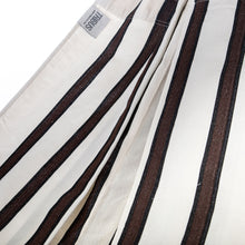 Load image into Gallery viewer, Two Person Hammock - White With Brown Stripes Fabric Image