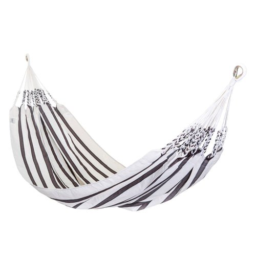 Two Person Hammock - White With Brown Stripes Main Image