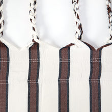 Load image into Gallery viewer, Two Person Hammock - White With Brown Stripes Plaits Image