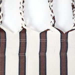 Two Person Hammock - White With Brown Stripes Plaits Image