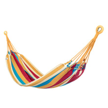 Load image into Gallery viewer, Cotton Two Person Hammock - Red Yellow And Blue Main Image