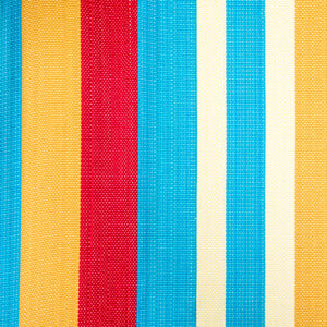 Cotton Two Person Hammock - Red Yellow And Blue Pattern Image