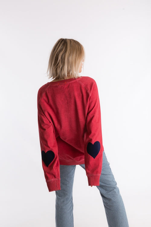 Ruby Patch Sweat - Red
