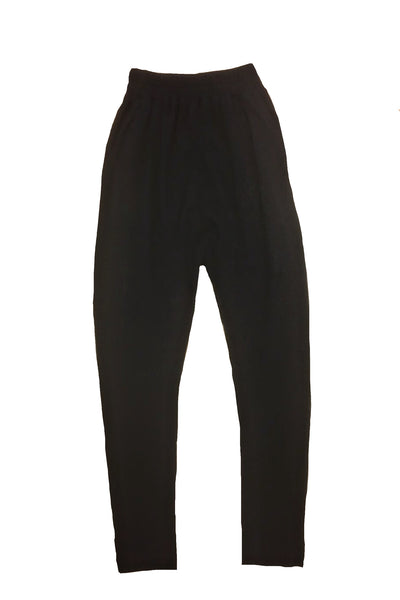 cotton black drop crotch sweatpants