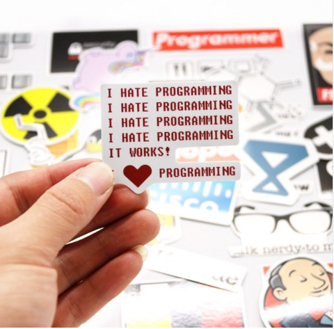 40 Pcs Programming Stickers