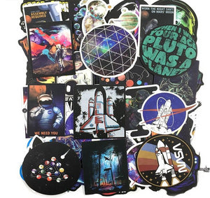 50 PCS Space-Nasa stickers