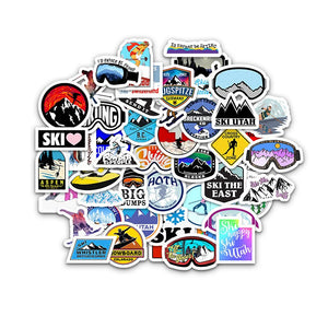 70 Pcs Ski Waterproof Sticker