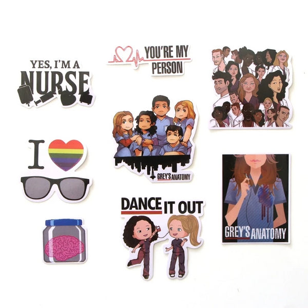 25 Pcs Greys Anatomy TV Show Stickers