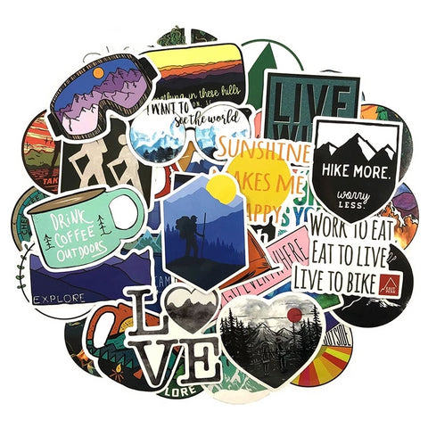 50 Pcs Outdoor Adventure Stickers