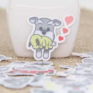 20/40pcs Cute Schnauzer Stickers