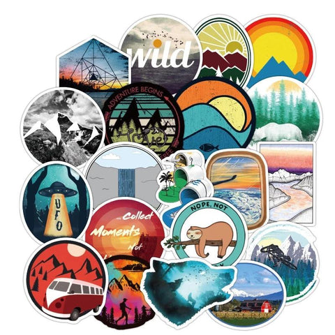 50 PCS Wilderness Sticker
