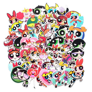 50 Pcs The Powerpuff Girls Waterproof Sticker