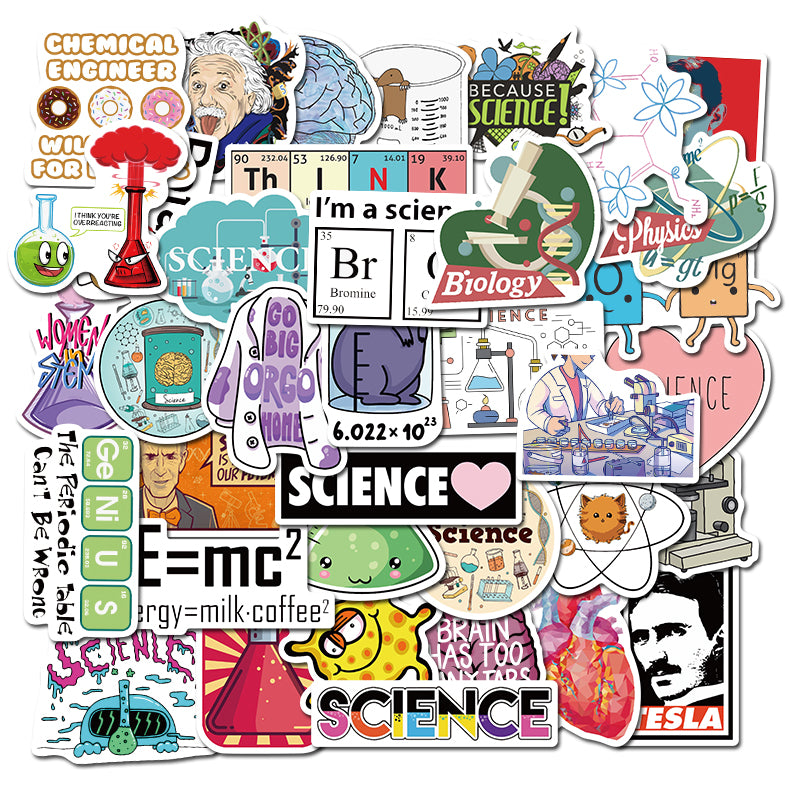 50 PCS NEW Science laboratory Sticker Pack