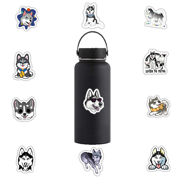 50 PCS Cute Huskie Sticker Pack