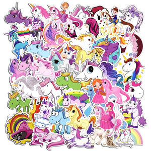 50 Pcs Unicorn Stickers