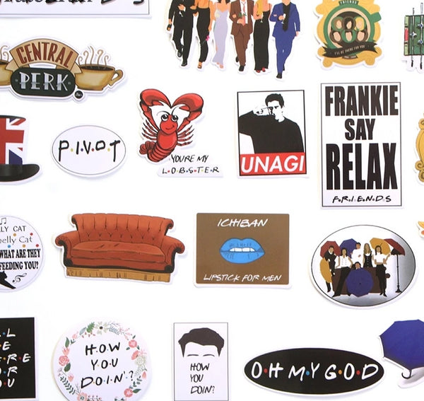 33 Pcs friends tv show Stickers