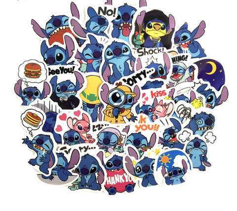 50 Pcs Cute Lilo Stitch Stickers