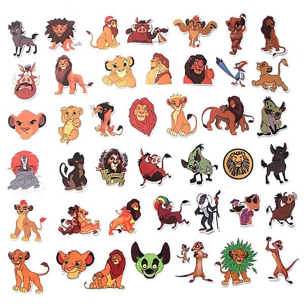 40 pcs Lion king Waterproof Stickers