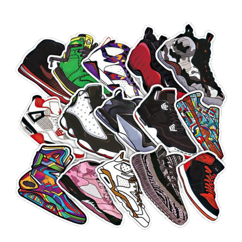 50 Pcs Basketball Sneakers Sticker