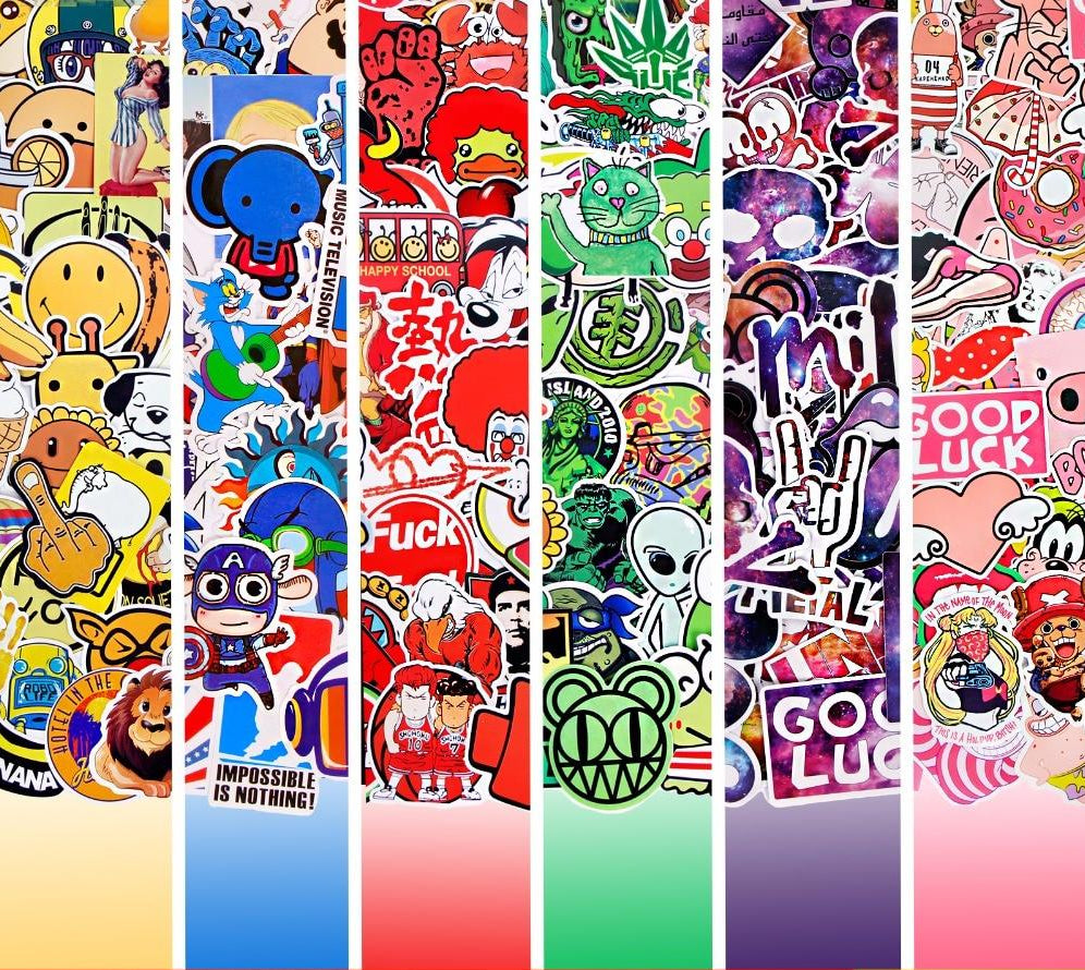 50 PCS/ Lot Funny Color Stickers
