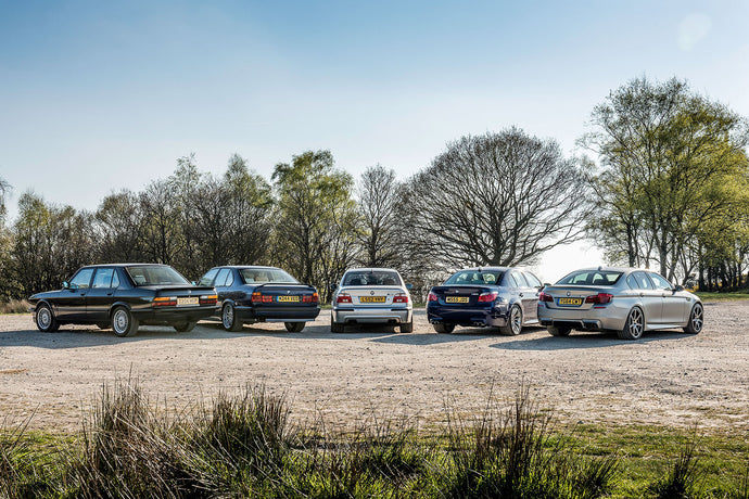 Six Generations of M5: BMW's Wolf in Sheep's Clothing