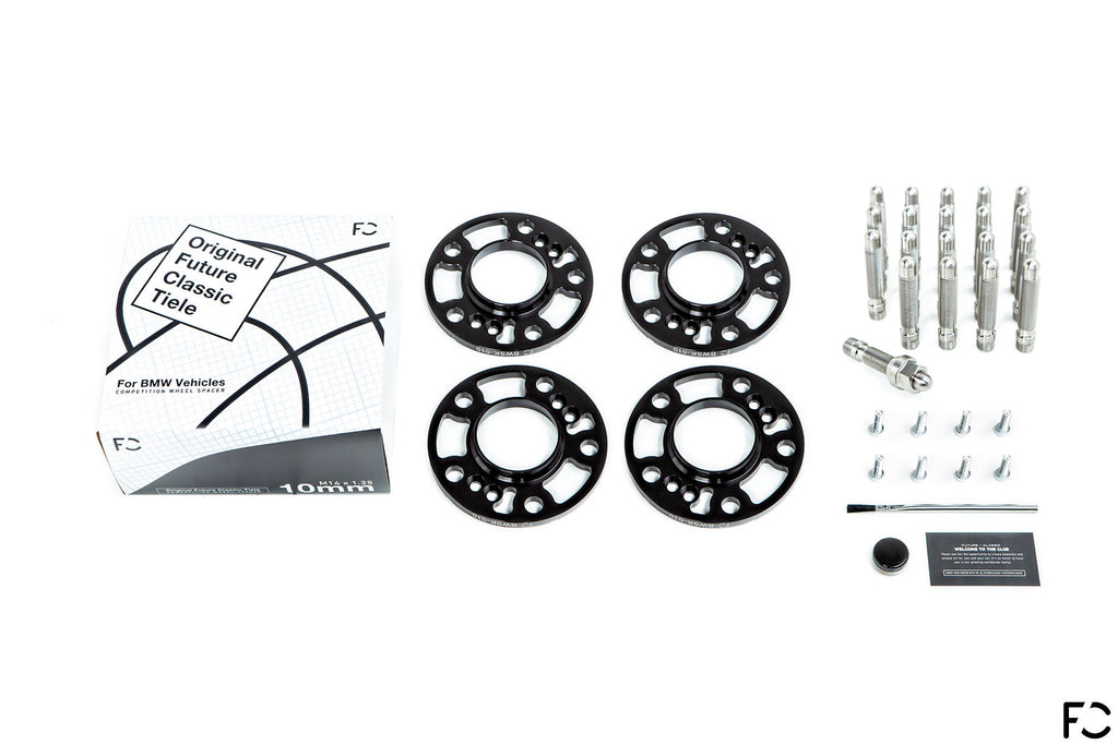 BMW Titanium Wheel Stud + Spacer Combo Kit