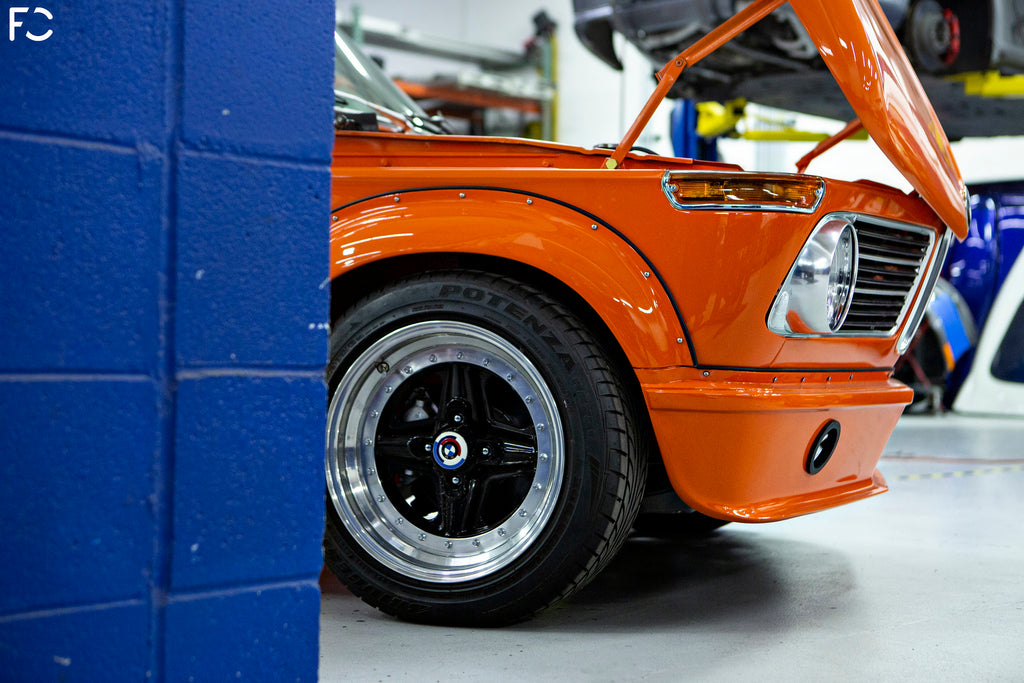 Fall-Line Motorsports - BMW 2002 Restoration Front Angle View