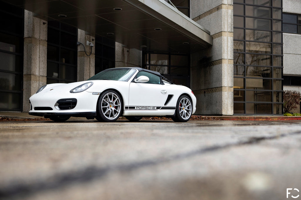 Future Classic 987.2 Boxster Spyder low front angle view
