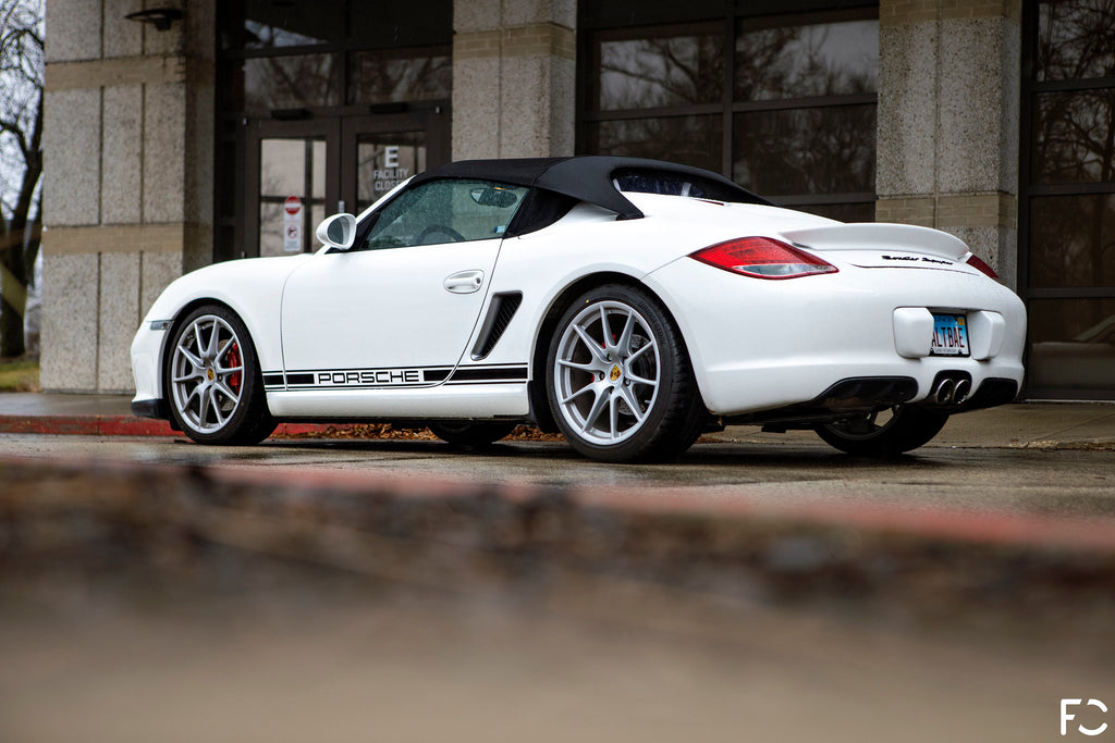 Future Classic 987.2 Boxster Spyder rear low angle view