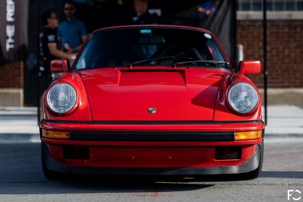 Front end photo of Marek's India Red 911 G-Body at Checkeditout Chicago 2021
