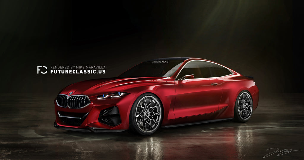 Future Classic BMW Concept 4 Render HRE Wheels FF10