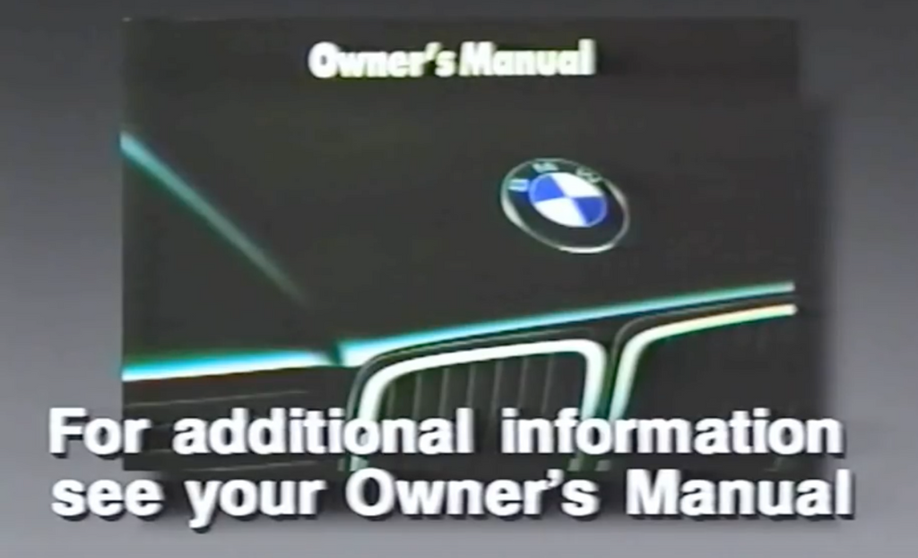 BMW E32 750iL Video Handbook