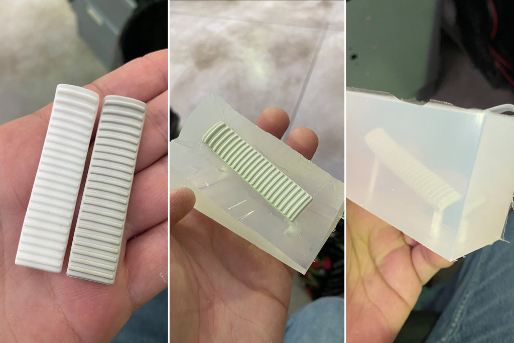 3d printed Rupes trigger in stages for obsessed garage polisher project
