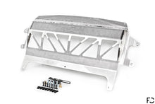 Load image into Gallery viewer, Fall-Line Motorsports - F8X (S55) Oil Cooler Underside View in Stainless Steel