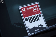 "Load image into Gallery viewer, Future Classic - Jeep ""Wrangler Club"" Club Sticker"