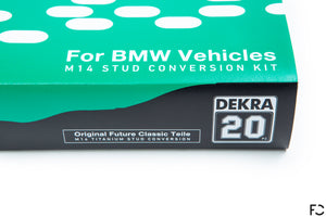 Future Classic BMW M14 Titanium Stud Kit Livery Box Close Up View - Front