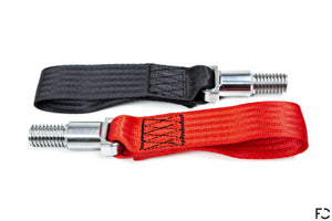 Fall-Line Motorsports - Porsche 997 Motorsport Tow Strap, Black and Red