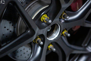 Future Classic - Porsche Dry Graphite Race Studs Installed Close-Up