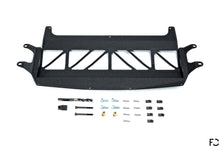 Load image into Gallery viewer, Fall-Line Motorsports - F8X (S55) Oil Cooler Guard Overhead Product View in Wrinkle Black