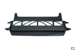 Fall-Line Motorsports - F8X (S55) Oil Cooler Underside View in Wrinkle Black
