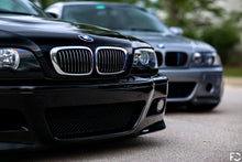 Load image into Gallery viewer, BMW chrome kidney grille set shown on Jet Black E46 M3