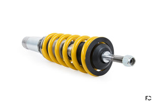 Ohlins Road and Track coilover for Porsche 987 Cayman range - Top view of rear shock and spring combo