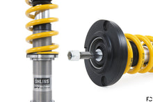 Load image into Gallery viewer, Ohlins Road and Track coilover for Porsche 987 Cayman range - Close up of spring adjuster and rear shock mount