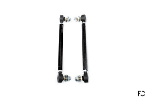 Fall-Line adjustable front sway bar end links increase strength and adjustability for BMW E9X M3