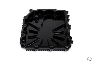 Fall-Line Motorsports Aluminum DCT Oil Pan - Overhead view of baffled interior and OEM magnet location