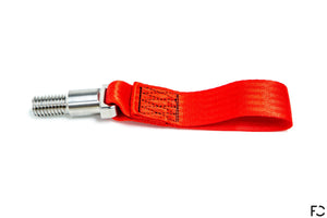 Future Classic - A90 Supra Titanium Tow Strap - Red, Side View
