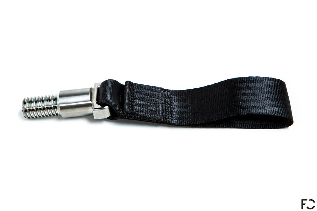 Future Classic - A90 Supra Titanium Tow Strap - Black, Side View